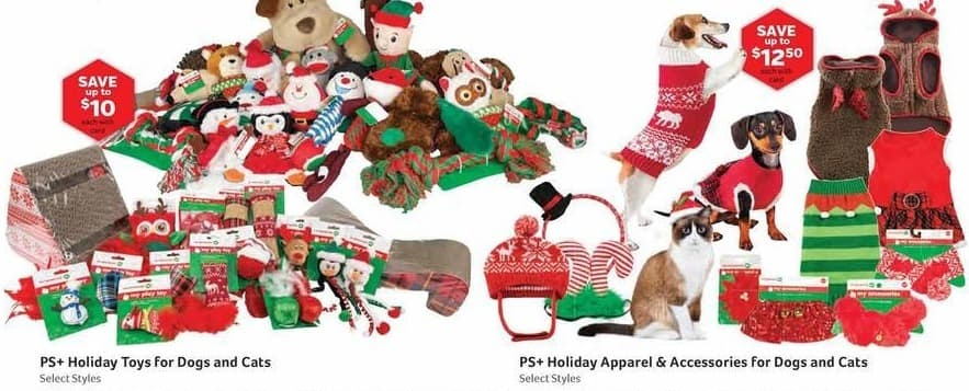Pet Supplies Plus Black Friday: PS+ Dog and Cat Holiday Toys, Select Styles, w/Card - Up to $10 Off
