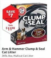 Pet Supplies Plus Black Friday: Arm & Hammer Clump & Seal Cat Litter, w/Card - $7 Off