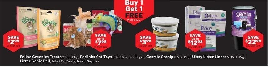 Pet Supplies Plus Black Friday: Feline Greenies Treats 2.5oz pkg , w/Card - B1G1 Free