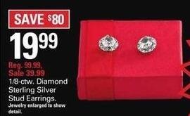 Shopko Black Friday: 1/8-ctw. Diamond Sterling Silver Stud Earrings for $19.99