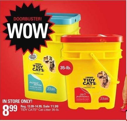 Shopko Black Friday: Tidy Cats 35-lb. Cat Litter for $8.99