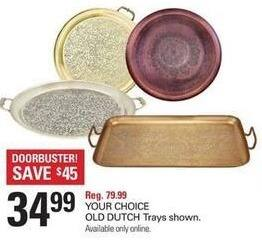 Shopko Black Friday: Old Dutch Trays, Select Styles, Your Choice for $34.99