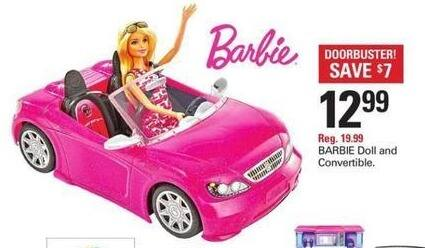 Shopko Black Friday: Barbie Doll and Convertible for $12.99