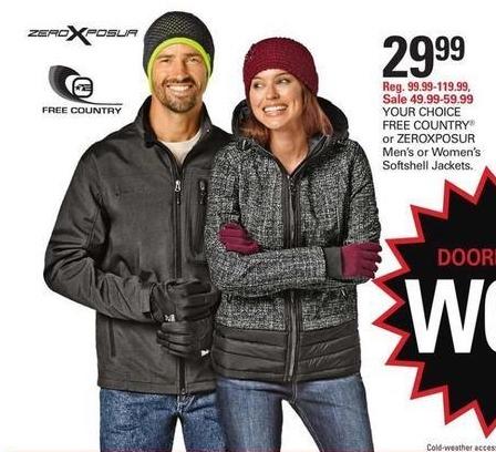 Shopko Black Friday: ZEROXPOSUR or FREE COUNTRY Men's Softshell Jacket for $29.99