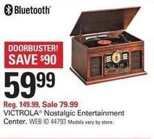 Shopko Black Friday: Victrola Nostalgic Entertainment Center for $59.99