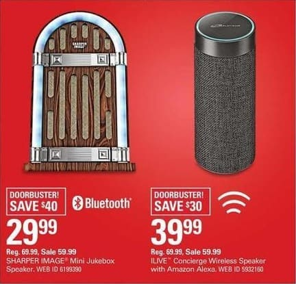 Shopko Black Friday Sharper Image Mini Jukebox Bluetooth Speaker