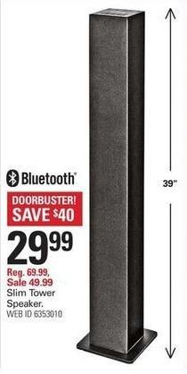 """Shopko Black Friday: Slim Tower 39"""" Bluetooth Speaker for $29.99"""