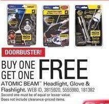 Shopko Black Friday: Atomic Beam Headlight, Glove and Flashlight - B1G1 Free