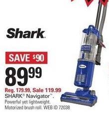 Shopko Black Friday: Shark Navigator Light NV105 Upright Vacuum for $89.99