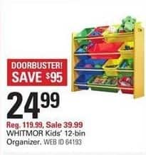 Shopko Black Friday: Whitmor Kids' 12-Bin Organizer for $24.99