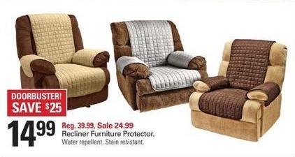 Shopko Black Friday: Recliner Furniture Protector for $14.99
