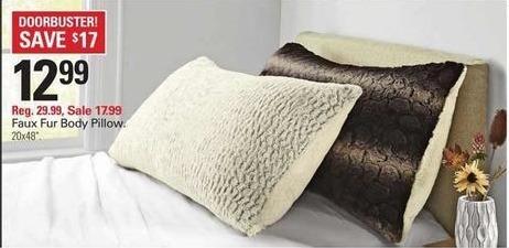 Shopko Black Friday: Faux Fur Body Pillow for $12.99