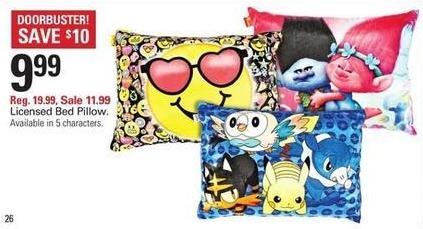Shopko Black Friday: Licensed Bed Pillow for $9.99