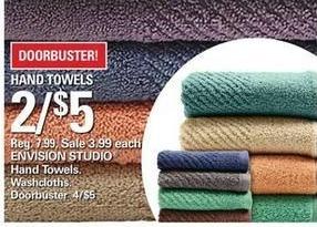 Shopko Black Friday: (2) Envision Studio Hand Towels or Washcloths for $5.00