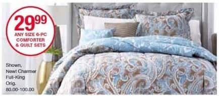 Belk Black Friday: Home Accents 6-pc Reversible Comforter or Quilt Sets, Any Size for $29.99