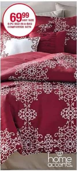 Belk Black Friday: Home Accents 8-pc. Bed-in-a-Bag Comforter Sets (Any Size) for $69.99