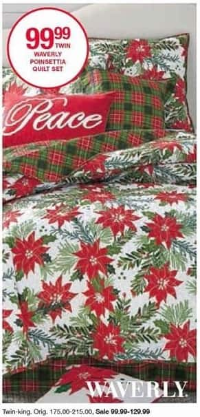 Belk Black Friday: Waverly Poinsettia Quilt Set (Twin-King) for $99.99 - $129.99