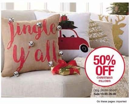 Belk Black Friday: Christmas Pillows - 50% Off