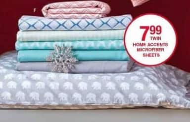 Belk Black Friday: Home Accents Microfiber Sheets (Twin-King) for $7.99 - $11.99