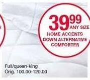Belk Black Friday: Home Accents Down Alternative Comforter (Full-King) for $39.99