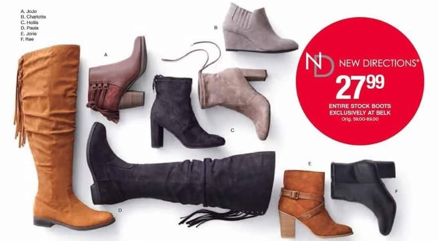 Belk Black Friday: Entire Stock of New Directions Boots for $27.99