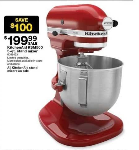 Fantastic Sears Black Friday Kitchenaid Ksm500 5 Qt Stand Mixer For Home Interior And Landscaping Palasignezvosmurscom