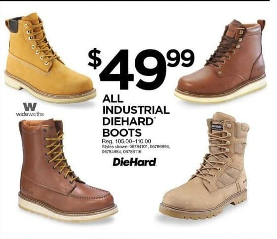 00d4886b3a8 Sears Black Friday: All DieHard Industrial Boots for $49.99 ...