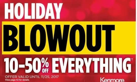 Sears Black Friday: Holiday Blowout - 10-50% Off