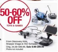 Belk Black Friday: Sharper Image and FAO Schwartz Toys and Games - 50-60% Off