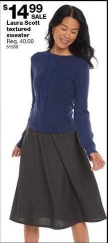 Sears Black Friday: Laura Scott Textured Sweater for $14.99