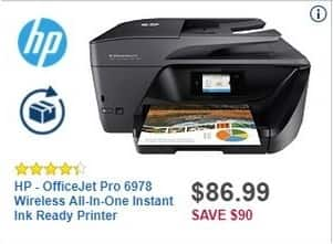 Best Buy Black Friday: HP OfficeJet Pro 6978 Wireless All-in-One Instant Ink Ready Printer for $86.99