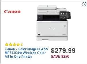 Best Buy Black Friday: Canon Color imageClass MF733CDW Wireless Color All-in-One Printer for $279.99