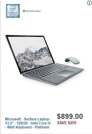 "Best Buy Black Friday: Microsoft Surface 13.5"" Laptop: 128GB, Intel Core i5 for $899.00"