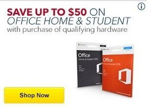 Best Buy Black Friday: Office Home & Student Software - Up to $50 Off w/Purchase of Qualifying Hardware