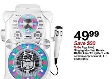 Target Black Friday: Singing Machine Remix HI-Def Karaoke System for $49.99