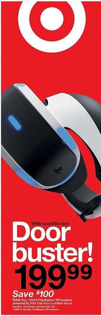 Target Black Friday: Playstation VR Headset for $199.99