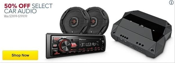 Best Buy Black Friday: Select Car Audio - 50% Off