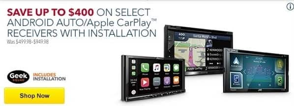 Best Buy Black Friday: Select Android Auto/Apple CarPlay Receivers with Installation - Up to $400 Off