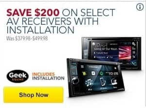 Best Buy Black Friday: Select AV Receivers with Installation - $200 Off