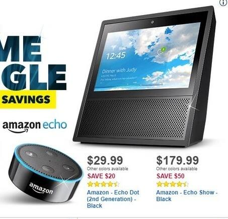 Best Buy Black Friday: Amazon Echo Dot (2nd Gen, Black) for $29.99