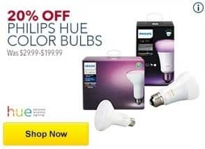 Best Buy Black Friday: Philips Hue Color Bulbs - 20% Off