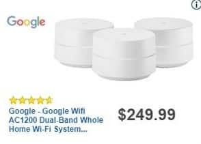 Best Buy Black Friday: Google Wifi AC1200 Dual-Band Whole Home Wi-Fi System (3-pk) for $249.99