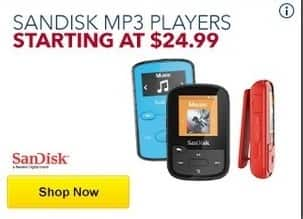 Best Buy Black Friday: SanDisk MP3 Players - From $24.99