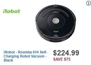 Best Buy Black Friday: iRobot Roomba 614 Self-Charging Robot Vacuum (Black) for $224.99