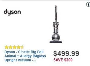 Best Buy Black Friday: Dyson Cinetic Big Ball Animal and Allergy Bagless Upright Vacuum for $499.99