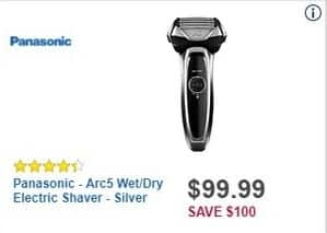 Best Buy Black Friday: Panasonic Arc5 Wet/Dry Electric Shaver (Silver) for $99.99