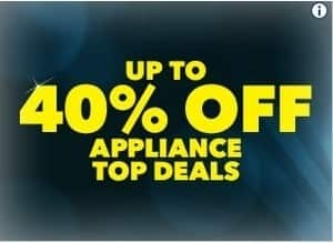 Best Buy Black Friday: Select Appliances - Up to 40% Off