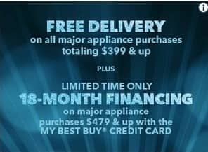 Best Buy Black Friday: Delivery on All Major Appliance Purchases Totaling $399+ for Free