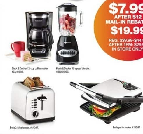 Macy's Black Friday: Bella Panini Maker for $7.99 after $12 rebate