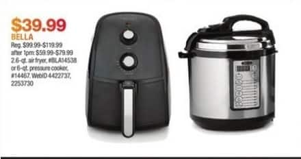 Macy's Black Friday: Bella 2.6-qt. Air Fryer for $39.99